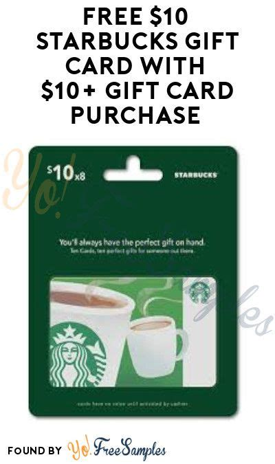 Check spelling or type a new query. FREE $10 Starbucks Gift Card with $10+ Gift Card Purchase (Mastercard Required) - Yo! Free ...