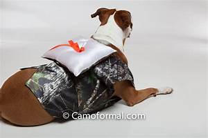 Dog39s vest with ring bearer pillow camouflage prom wedding for Dog wedding ring bearer pillow
