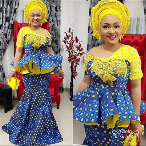 beautiful ankara skirt and blouse styles for owambe guests 2018