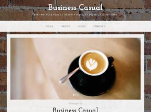business casual  website template  css templates