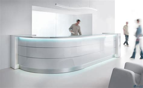 lada led scrivania curved reception desk valde 3212mm wide reality