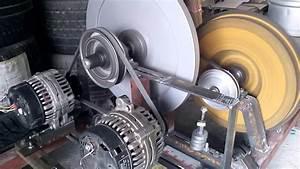 Universal Motor Running A 5kw 24v Alternators No Load