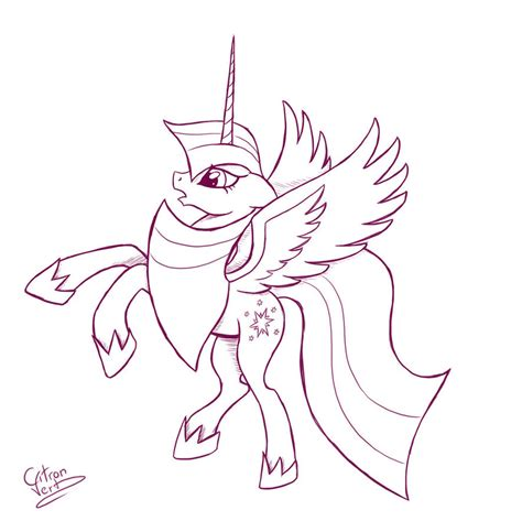 pony coloring pages twilight sparkle alicorn