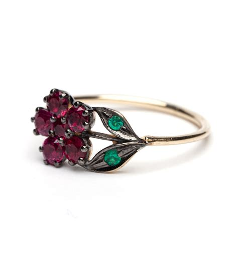 emerald flower ring flowers ideas for review
