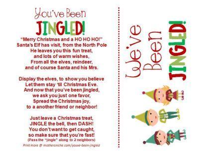 youve  jingled christmas printable