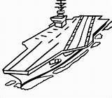 Carrier Aircraft Coloring Drawing Pages Naval Navy Clipart Sketch Battleship Nimitz Printable Class Easy Ship Airplane Army Baby Vehicles Thecolor sketch template
