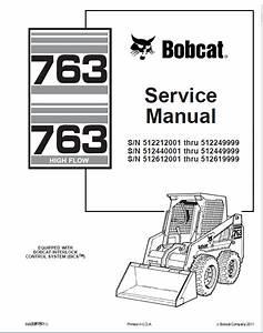 Bobcat 763  763 High Flow Loaders Service Manual Pdf