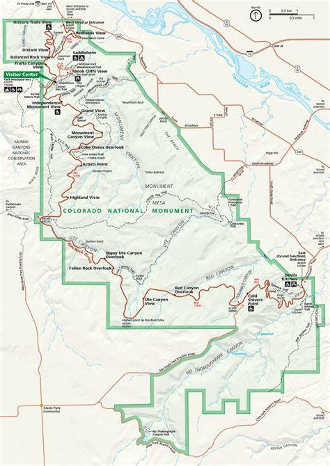 Carte Monument Pdf by Carte Plan Colorado National Monument Guide De Voyage