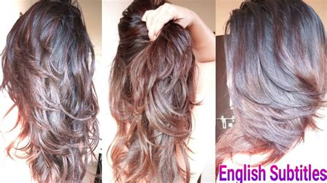 step diy deep layer cut  home   trim haircut  hindi alwaysprettyuseful youtube