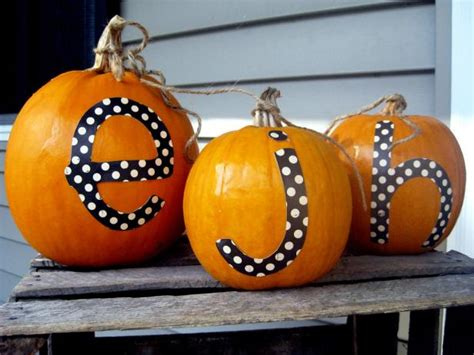 monogrammed pumpkins hgtv
