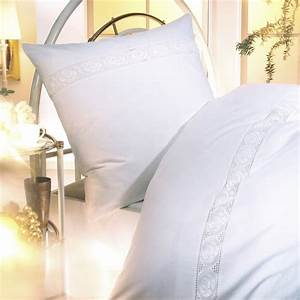 Weiße Biber Bettwäsche : linon bettw sche baumwolle in wei mit spitze g nstig shoppen ~ Michelbontemps.com Haus und Dekorationen