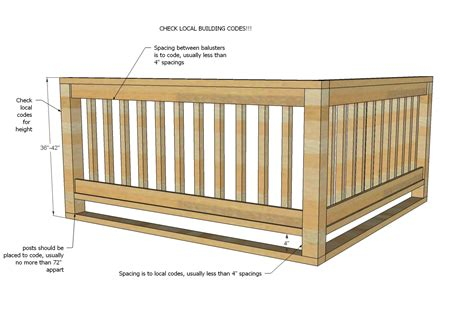 deck baluster spacing jig wooden porch step plans studio design gallery best