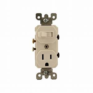 Leviton 15 Amp Commercial Grade Combination Single Pole