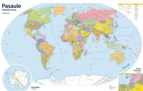 Pasaules politiskā karte - Karšu izdevniecība Jāņa sēta