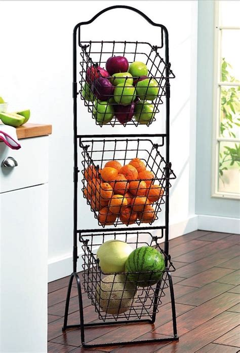 wire storage basket bins shelving  tier rack organizer