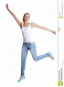Jumping Happy Teen Girl Royalty Free Stock Image - Image ...