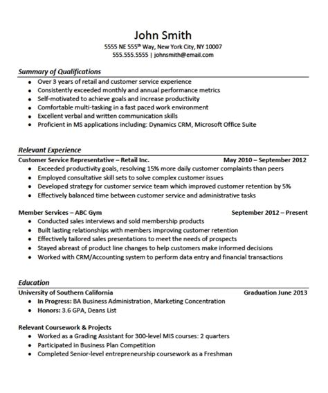 General Resume Outlines by Free Resume Templates General Cv Exles Uk Sle For