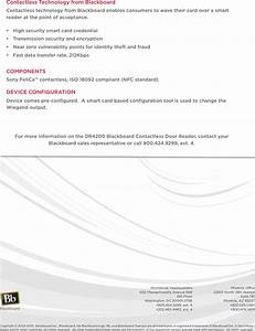 Blackboard Dr4100x007 Contactless Card Readers User Manual