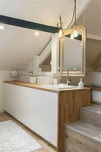 idee decoration salle de bain combles amenages une With salle de bain design avec décoration combles aménagés