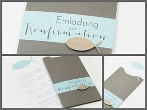 Leine Design Konfirmations Einladung Im Umschlag