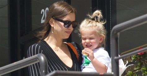 irina shayk spotted  adorable daughter lea  los angeles