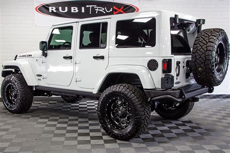 custom jeep white 2017 jeep wrangler rubicon unlimited hemi white