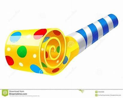 Party Horn Clipart Blower Blowers Vector Illustration