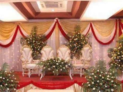 wedding stage decorations youtube