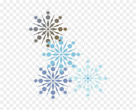 Transparent Background Snowflake Border by Snowflake Clipart Transparent Border Snowflake Corner