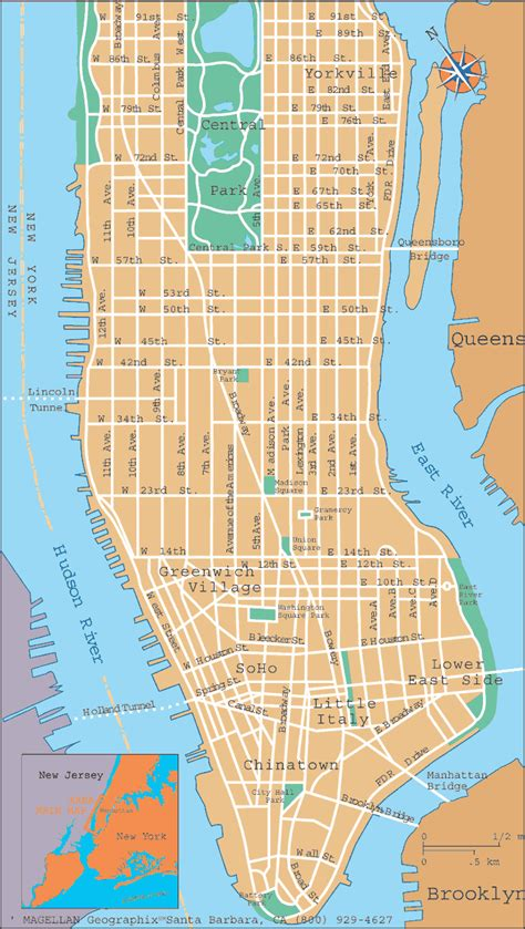 street map manhattan  travel information