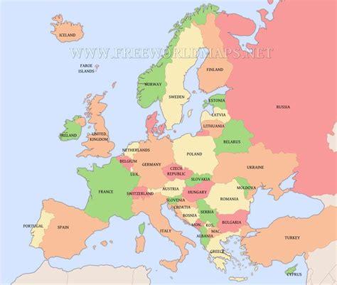 european countries map homeschool geography european