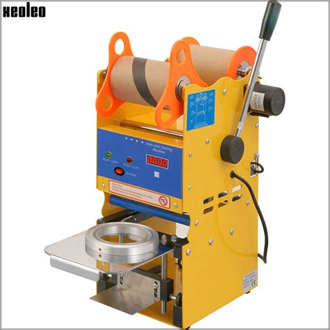 buy xeoleo digital count semi automatic cup sealing machine bubble tea machine