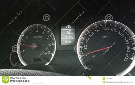 Car Dashboard Gauges Stock Image. Image Of Driving, Idle