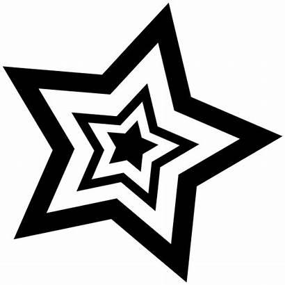 Star Inside Stars Sticker Clipart Decals Stickers