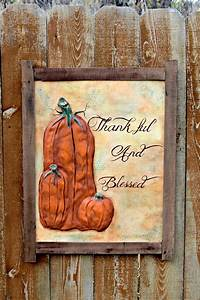 thankful and blessed harvest pumpkin sign favecrafts