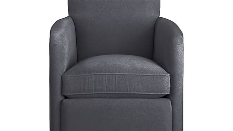 zoe swivel chair valencia charcoal crate and barrel