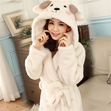 robe de chambre coton femme bath robe hooded robes for dressing gown warm