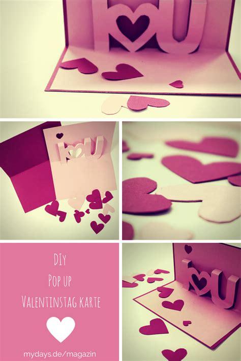 romantische diy valentinskarte zum nachbasteln