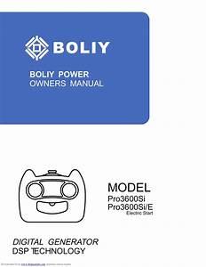 Boliy Pro3600si Manual By Popunder Net