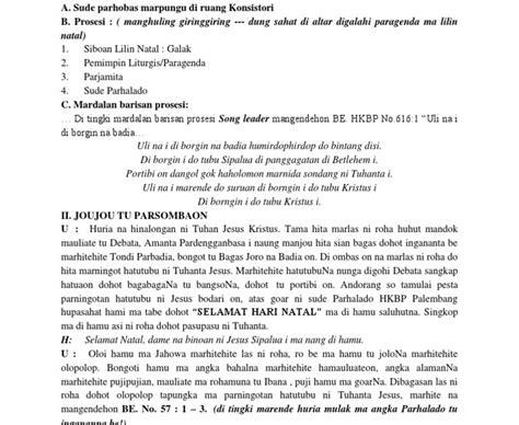 Terjemahan bahasa batak ke bahasa indonesia atau bahasa indonesia ke bahasa batak secara online. Votum Natal Sekolah Minggu Bahasa Batak / Acara Ibadah ...