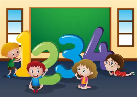 foto de Counting numbers with kids in classroom Download Free
