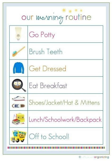 brilliant daily routine charts  kids carrots