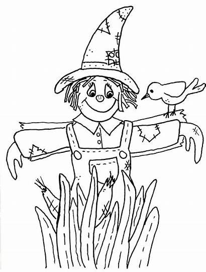 Scarecrow Coloring Pages Scarecrows Goosebumps Printable Oz