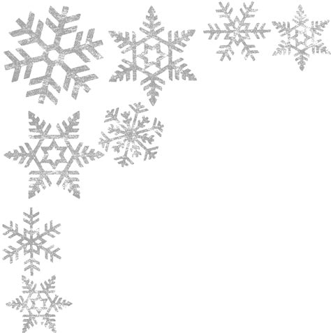 Transparent Background Snowflake Border by Snowflakes Border Png Image
