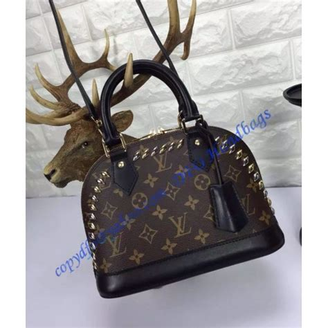 louis vuitton studded monogram canvas alma bb