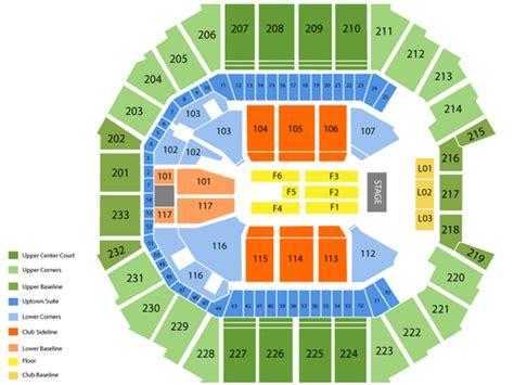 spectrum center seating chart   charlotte nc