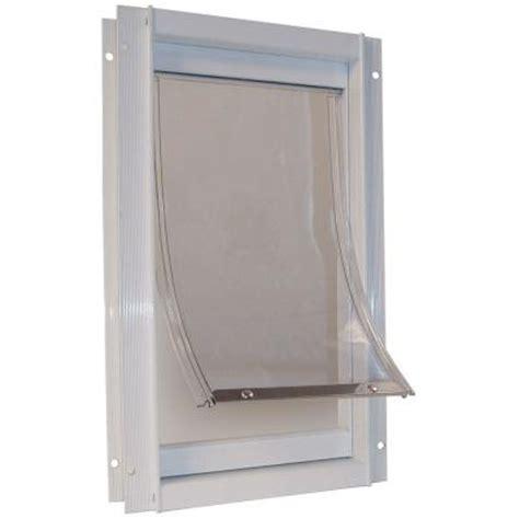 pet doors home depot ideal pet 7 in x 11 25 in medium deluxe aluminum frame