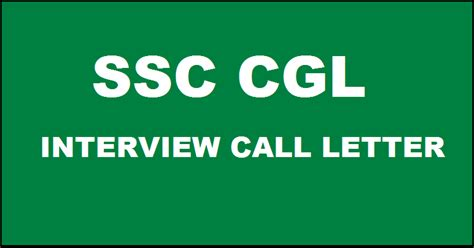 ssc cgl interview call letter    sr region