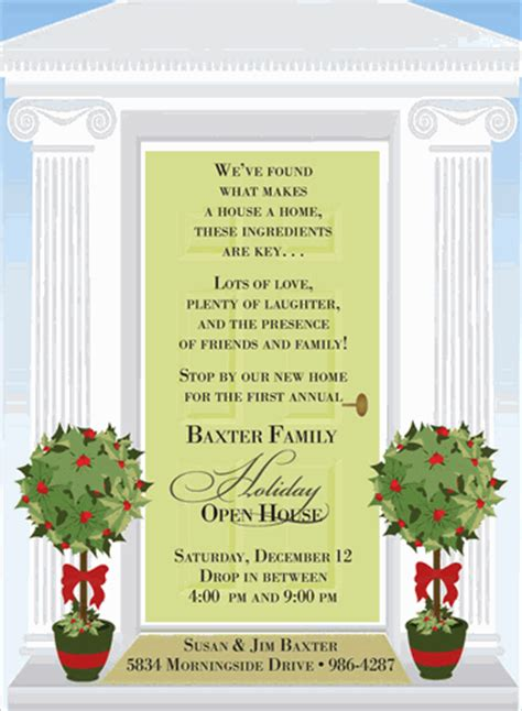 holiday open house party invitations  noteworthy