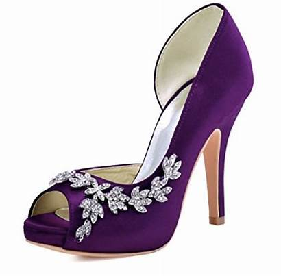 Purple Shoes Heel Stilettos Pumps Rhinestones Evening